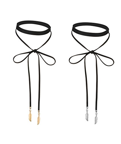 Besteel Choker Necklaces Velvet Leather