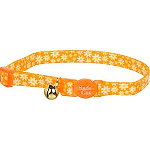 Coastal Pet Products CCP6781DAY Fashion Safe Cat Adjustable Breakaway Collar with Bells, Daisy Yellow