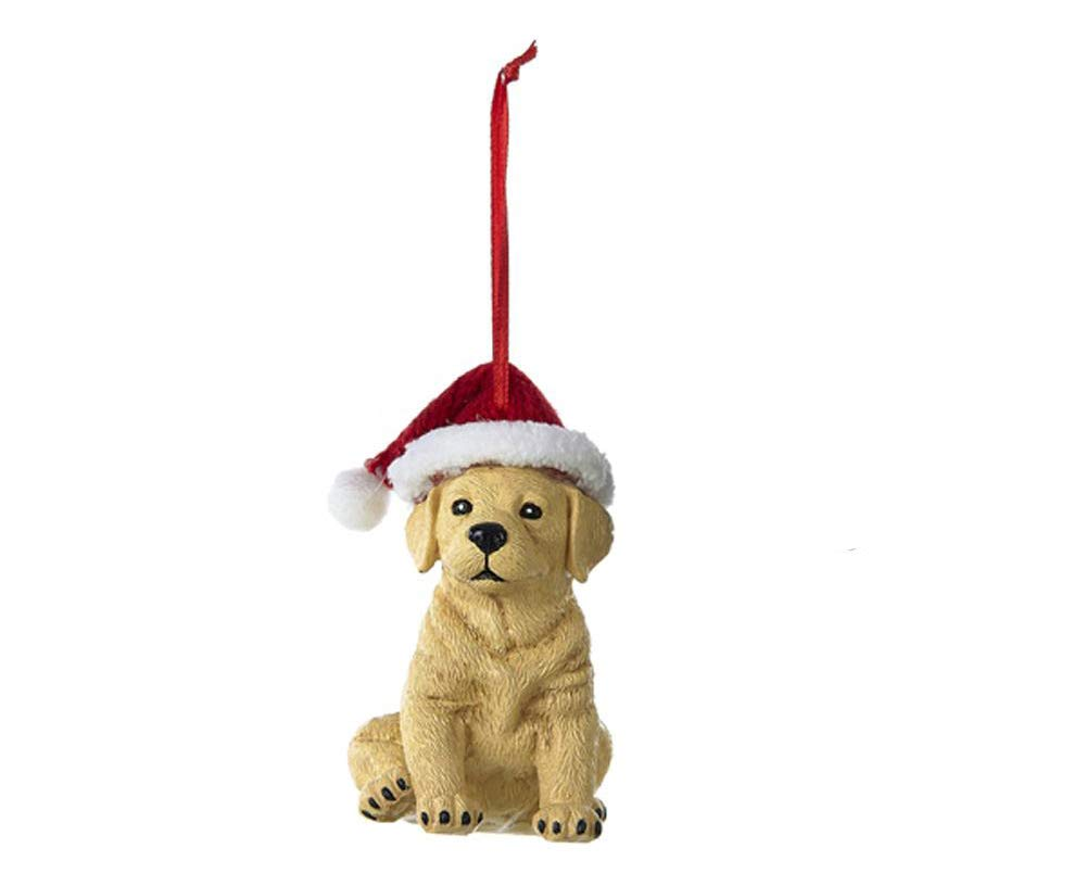 Country-Marketplaces-Labrador-with-Christmas-Hat-Ornament-Yellow