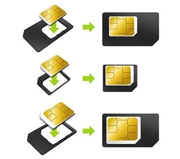 Muvit MUMIC0003 - Pack de 3 adaptadores universales para tarjetas SIM (nano SIM y micro SIM), color negro