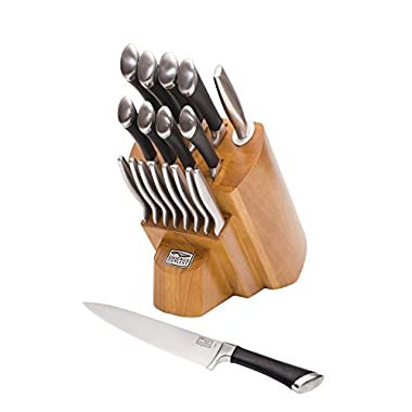 Chicago Cutlery 1119644 Fusion Forged 18-Piece Knife Block Set, Stainless Steel
