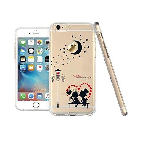 Fundas iPhone 6/6S,Vanki® Suave TPU Funda Parachoques Funda Absorción de Impactos y Anti-Arañazos Case Cover Carcasa Para iPhone 6/6S 10