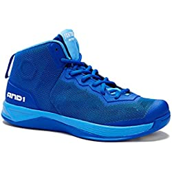 AND1 Mens Fantom Basketball Shoe 9.5 Royal
