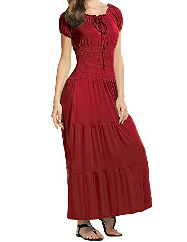 Womens Maxi Boho Summer Long Skirt Evening Cocktail Party Dress - 7