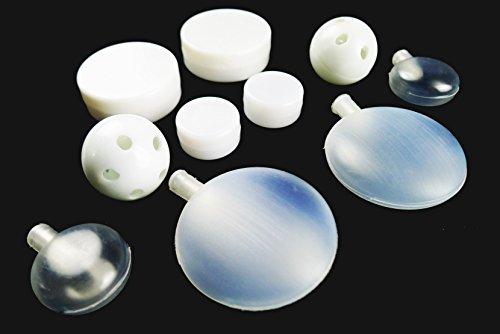 Füllmaterial 10-teiliges Set, Rasseldosen, Rasselkugeln, Quietscher zum Einnähen