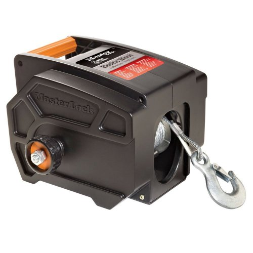 Master Lock Electric Winch, Portable 12-Volt DC Electric Winch, 2953AT (Powered Winch)