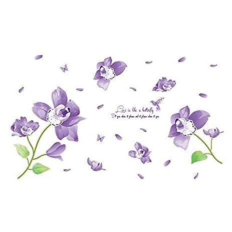 Amazon.com: TOOGOO(R) Nieuwe Bloemen Vinyl 3d Muurstickers Decoratie ...