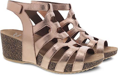 (Dansko Selina Women's Sandal Rose Gold Size 40 M EU )
