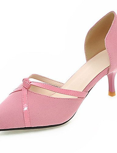 LFNLYX Zapatos de mujer-Tacón Kitten-D'Orsay y Dos Piezas / Puntiagudos-Sandalias-Vestido / Casual / Fiesta y Noche-PU-Negro / Rosa / Rojo / Gris Red