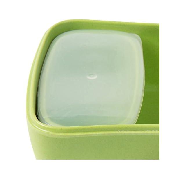 BIOZOYG Bento Lunch Box in bambù per Bambini I Porta Pranzo con Extra Scatola Snack I Scatola Merenda a Motivo - Volpe… 6 spesavip