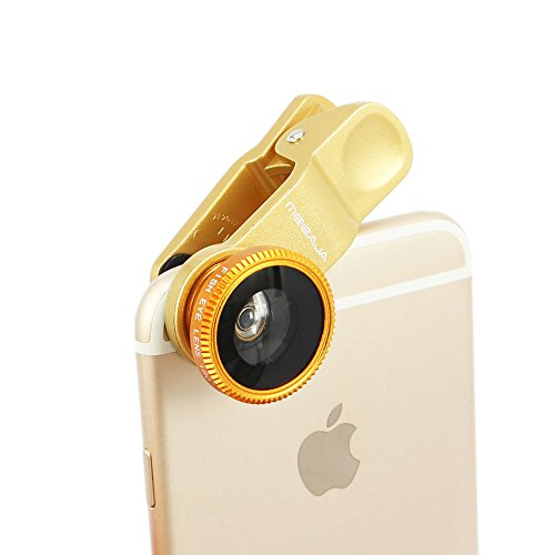 Wide Angle + Macro Clip-On Lens for Smartphones and Tablets (Gold) - 5
