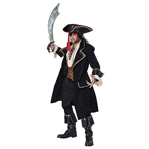 [California Costumes Men's Deluxe Pirate Captain, Multi, X-Large] (Plus Size Sexy Pirate Costumes)