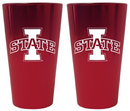 (Iowa State Cyclones Lusterware Pint Glass Set by Boelter Brands)