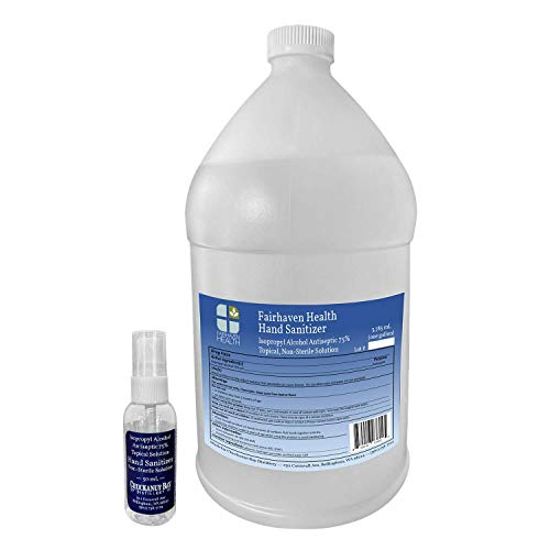 Fairhaven Health Hand Sanitizer – One (1) Gallon – Made to WHO Formula from Isopropyl Alcohol 75% Solution (Not Smelly…
