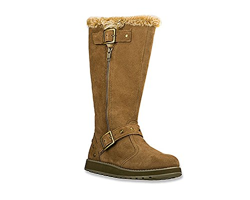 Skechers Women's Keepsakes Tall 2 Buckle Snow Boot,Taupe,8.5 M US - Skechers Tall Boots