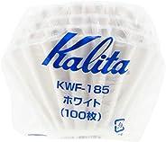 Kalita Filtros de café de papel Wave I tamanho maior 185 I 100 unidades I especialmente pour over gotejador I