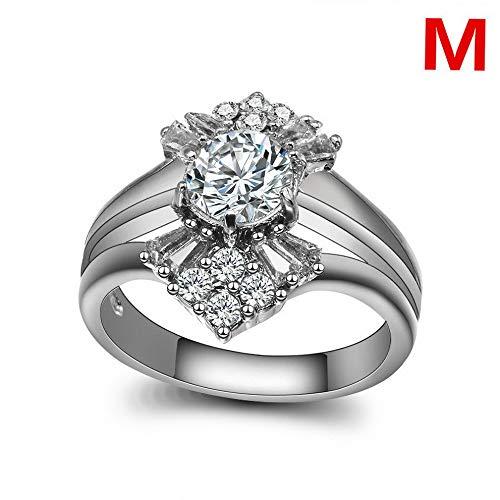 Dokis Fashion 925 Silver Round Cut Sapphire Women Wedding Ring Jewelry Size 6-10   Model RNG - 3887   8 Dark Smoke Forged Leaf