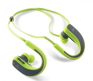 Ksix Go&Play Sport 2 - Auriculares inalámbricos, micrófono Integrado, Color Gris y Verde