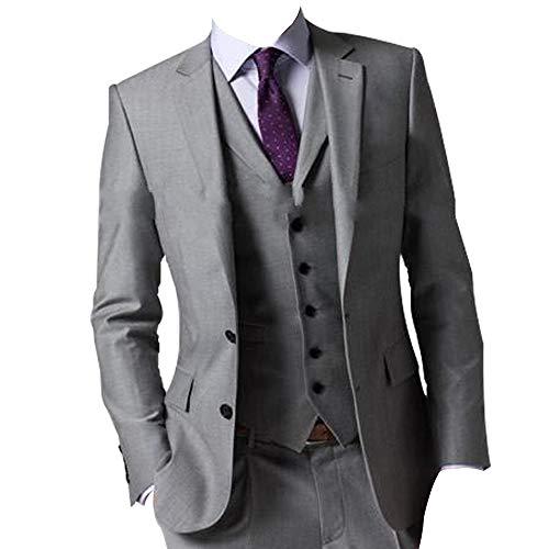 HBDesign Men 3 Piece 2 Button Formal Slim Fit Fashion Business Suits ()