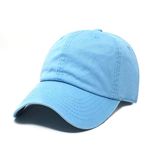 (ChoKoLids Cotton Dad Hat Adjustable Blank Cap Low Profile Unstructured Polo Style (Sky Blue))