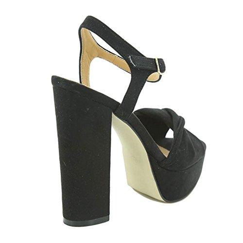 Toocool , Chaussures à brides femme Noir