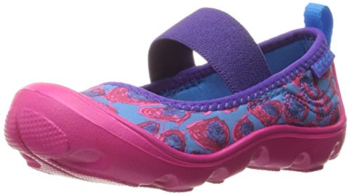 crocs Duet Busy Day Leopard MJ PS Mary Jane (Toddler/Little Kid), Leopard, 12 M US Little Kid by Crocs