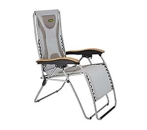 Outback acolchado tumbona Extra reclinable–Silla de jardín tipo camping gris out370555* * Por en línea jardín centro * *