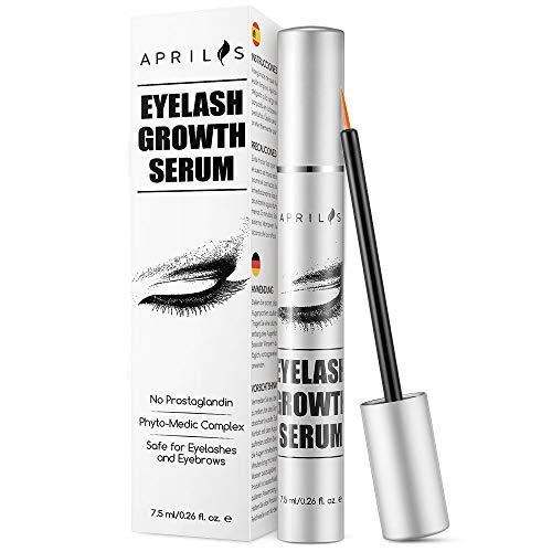 Natural Lash Growth Serum, 7.5ml Eyelash Growth Enhancer & Brow Serum for Long, Luscious Lashes and Eyebrows