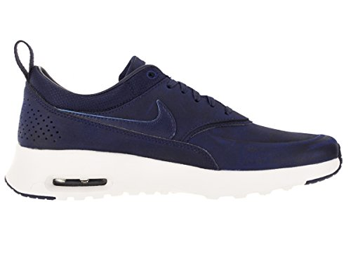 Nike Womens Air Max Thea Prm Scarpa Da Corsa Leale Blu / Leale Blu-sommità Bianco-bianco