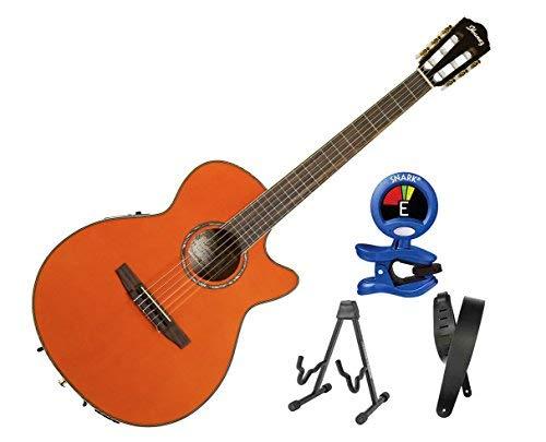 Ibanez AEG10NII Nylon String Cutaway - Tangerine w/Bonus Kit