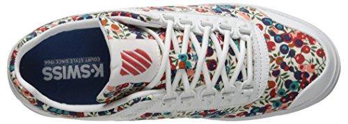Libertà Donna Ginnastica K rococo Red Rosso Scarpe swiss Nuovo Da Gstaad Lisci White Moda Rococco Bianco EqECfY1xw