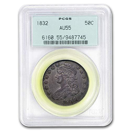 (1832 Capped Bust Half Dollar AU-55 PCGS (Small Letters) Half Dollar AU-55 PCGS)