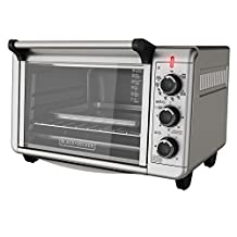 Black & Decker TO3210SSD Countertop Convection Toaster Oven, Silver