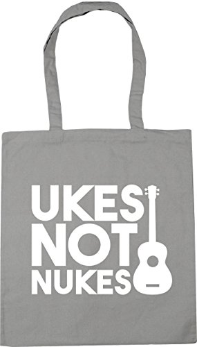 Ukes 42cm Beach 10 x38cm Grey Shopping Not Nukes Light Gym litres Tote Bag HippoWarehouse dY8wgd