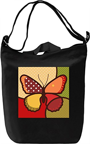 Pop Art Butterfly Borsa Giornaliera Canvas Canvas Day Bag| 100% Premium Cotton Canvas| DTG Printing|