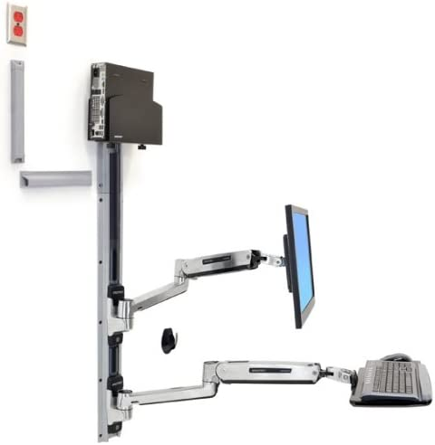 Ergotron Wall Mount Track for CPU, Flat Panel Display, Keyboard, Mouse 45-359-026