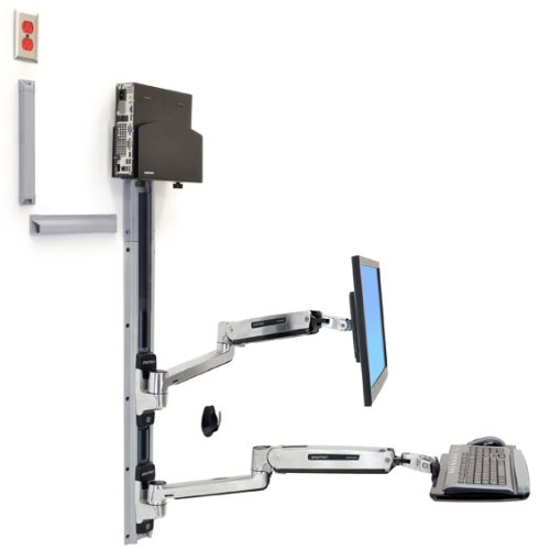 Ergotron Wall Mount Track for CPU Flat Panel Display