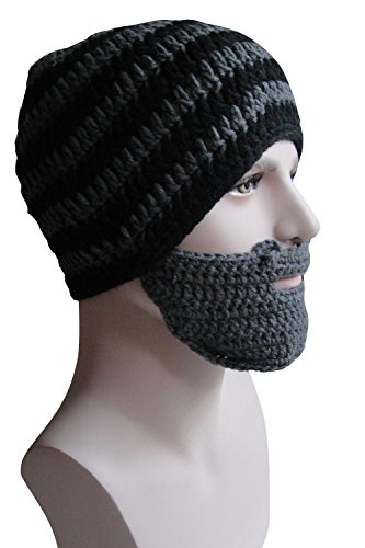 Bridal Mask (Bess Bridal Crochet Beard Hat Mask Ski Cap Unisex Mustache Warmer Winter Ski Beanies)