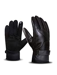Winter Gloves Outdoor Warm Gloves Touch Screen Leather Gloves