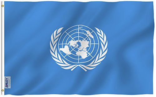 Anley Fly Breeze 3x5 Foot United Nations Flag - Vivid Color
