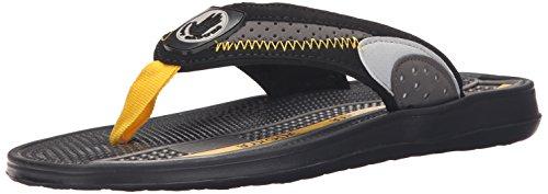 Body Glove Mens Cruise II Sandal Black/Grey/Yellow