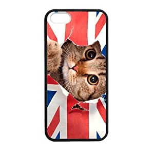 Fashion Funny UK United Kingdom Union Jack Flag For Case Samsung Galaxy S4 I9500 Cover PC Laser Technology Britain British Cute cat cases