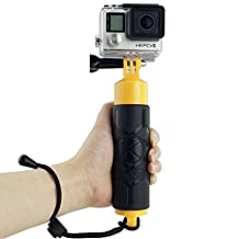 CamKix Premium Floating Hand Grip for Gopro Hero 4, Session, Black, Silver, Hero+ LCD, 3+, 3, 2, 1 - Floating Hand Grip / Hollow Interior for Storage / Textured Grip for Firm Grip / Thumbscrew / Lanyard Included