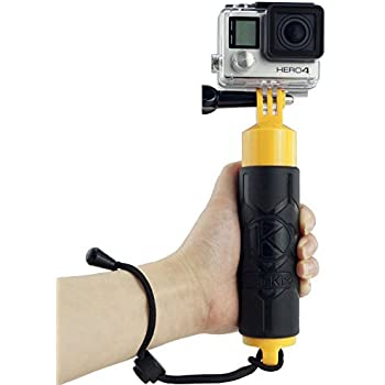 CamKix Premium Floating Hand Grip for Gopro Hero 4, Session, Black, Silver, Hero+ LCD, 3+, 3, 2, 1 – Floating Hand Grip / Hollow Interior for Storage / Textured Grip for Firm Grip / Thumbscrew / Lanyard Included