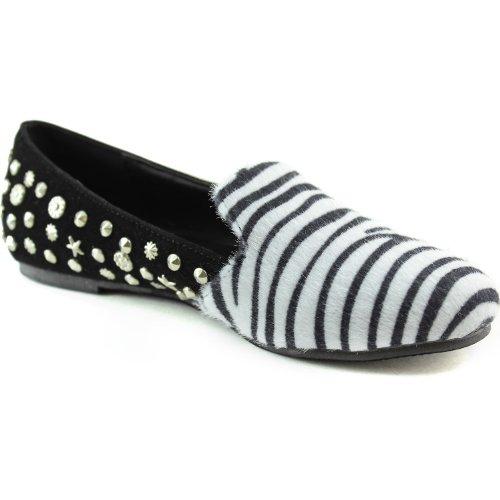 Breeze 5 Nature Zebra Zebra Star Leila 8 Spiked Women's 15 Shoes Loafers ARRCwWdq6Z