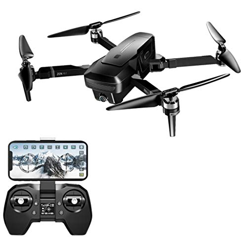 ErYao Visuo Zen K1 Drone GPS RC Drone with 4K/720P Dual Camera Wide-Angle HD Dual Camera Gesture Control 5G WiFi FPV Brushless Motor RTF Optical Flow Positioning, 30mins Flight Time, US Stock (Black)
