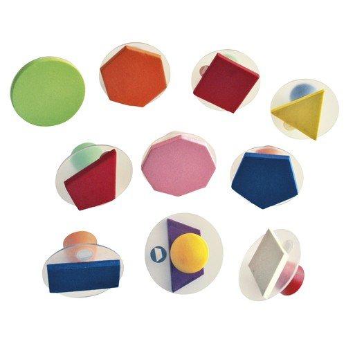Design SUNNYSUE Geometrische Formen Stempel-Set 10er Durchmesser 7,5cm Basteln mit Holz zum selbstgestalten