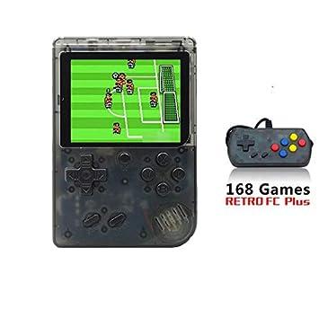 ACHICOO RETR/o FC MI/NI Game Machine 168Plus Double Person Version with Handle Transparent Black + Handle