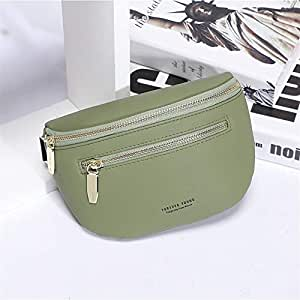 YWSCXMY-AU Luxury Multi-functiona Women's Fanny Pack Shoulder Bag and Chest Bag Female Belt Waist Pack (Color : Green)