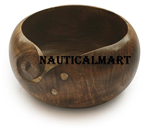 NauticalMart Deal for The Day - AB Handicrafts - Mango Wooden Yarn Bowl 6 inch for Knitting, Crochet for Moms, Grandmothers by NAUTICALMART (Image #1)